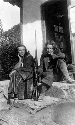 Корея. Поместье Янковских «Новина». Л. Андерсен и Виктория Янковская. 1933